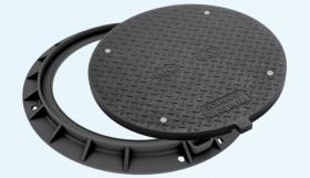 Capac pentru canalizare, rama rotunda, clasa D400, diametru 800 - Capace pentru canalizare din material compozit