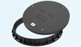Capac pentru canalizare, rama rotunda, clasa D400, diametru 1100 - Capace pentru canalizare din material compozit