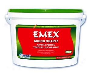 Grund acrilic de amorsare cu cuart pentru tencuieli decorative Emex - Grund acrilic de amorsare cu cuart pentru tencuieli decorative Emex