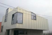 Proiect rezidential fatada si invelitoare cu tabla faltuita, Onyx Pearl, Bucuresti - Montaj invelitori