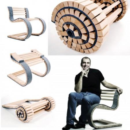 MIESROLO, un scaun dinamic facut dintr-o bucata  - MIESROLO, un scaun dinamic