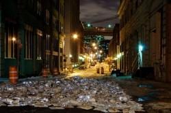 Luzinterruptus - literatura castiga batalia cu traficul in New York - Luzinterruptus - literatura castiga batalia cu traficul in New York