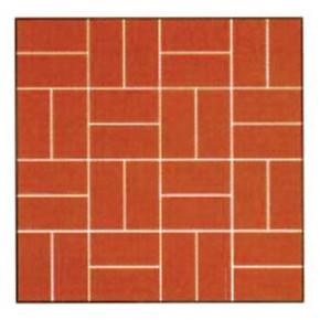 Model de montaj - rosu caramiziu - Placaje din beton