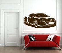 Sticker Cu Audi-ul in casa - Stickere decorative