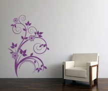 Sticker Floare pe perete - Stickere decorative