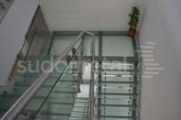 Scara cu trepte din sticla - Scari cu vang lateral