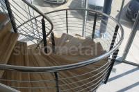 Scara in spirala showroom - Scari cu vang lateral