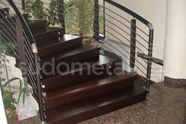 Balustrada casa particulara Iasi - Balustrade din inox - lemn