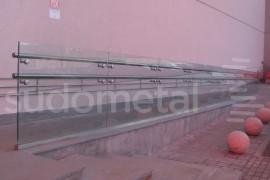 Balustrada din sticla - inox Mall Ruse, Bulgaria - Balustrade exterioare