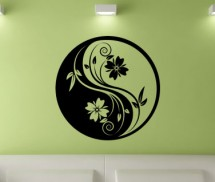 Sticker Floare circulara Yin si Yang - Stickere