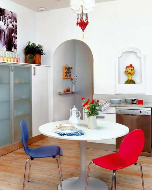 Un apartament colorat, in Madrid - Culori luminoase, pentru un aspect ludic si boem