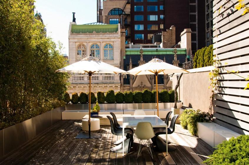 O terasa este vara locul ideal pentru oaspeti si poate fi amenajata ca atare (foto via
