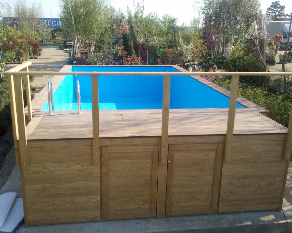 Noile piscine supraterane din lemn de la hobbit concept ro for Constructie piscine