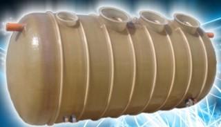 Rezervor orizontal ingropat - Rezervor subteran din fibra de sticla