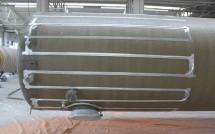 Cablu montat inainte de izolatie - Rezervoare izolate cu spuma poliuretanica