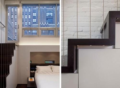 Scarile separa spatiile chiar pe mai multe nivele - Cum poate fi proiectat un apartament pe nivele. Manhattan