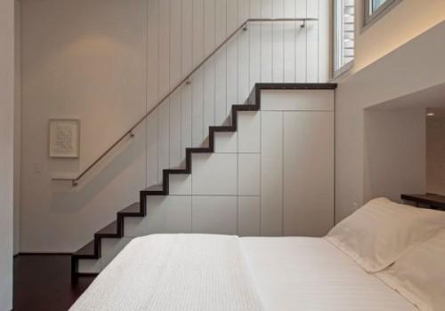 Protectia patului este asigurata print-o cuseta - Cum poate fi proiectat un apartament pe nivele. Manhattan