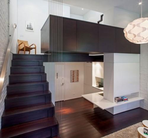 Proiect, vedere de sus - Cum poate fi proiectat un apartament pe nivele. Manhattan