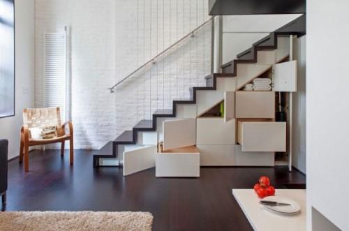 Spatiu deschis, pentru o iluminare naturala cat mai buna - Cum poate fi proiectat un apartament pe nivele. Manhattan