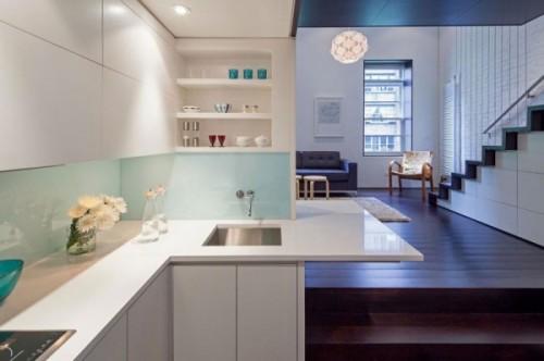 Bucataria, moderna, cu cele mai noi utilitati - Cum poate fi proiectat un apartament pe nivele. Manhattan