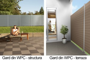 Gard din material compozit - WPC - structura si terraza - Garduri din material compozit - WPC - WERZALIT