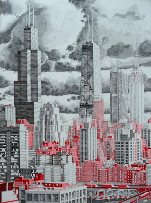 Proiect Mark Lascelles Thornton - Trecutul se confrunta cu mai multa munca, migaloasa, cu tusul si culorile, dar proiectele chiar erau niste opere de arta
