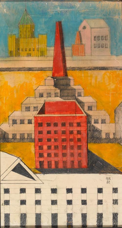 Aldo Rossi, prespectiva pentru Teatro del Mondo, Venetia - Trecutul se confrunta cu mai multa munca, migaloasa, cu tusul si culorile, dar proiectele chiar erau niste opere de arta