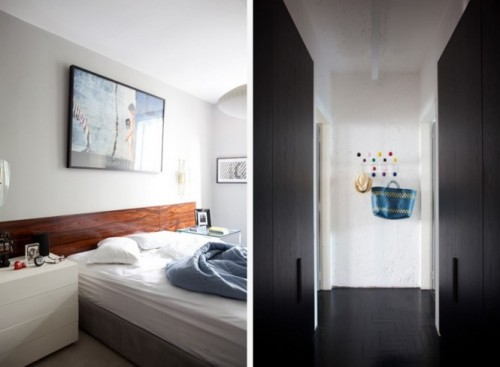 Dormitorul si holul in culori neutre - Culoare si forme variate, intr-un spatiu aglomerat, dar atragator