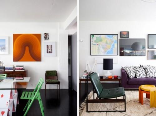 Cele mai diverse forme de scaune si canapele - Culoare si forme variate, intr-un spatiu aglomerat, dar atragator