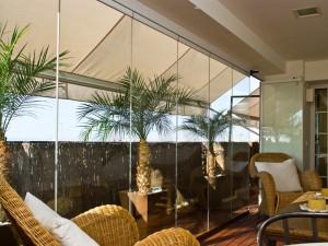 Pereti din sticla - MelGlass - Mel-Glass - Sistemul GSEE pentru inchideri de terase, balcoane, foisoare sau galerii comerciale - GAVIOTA