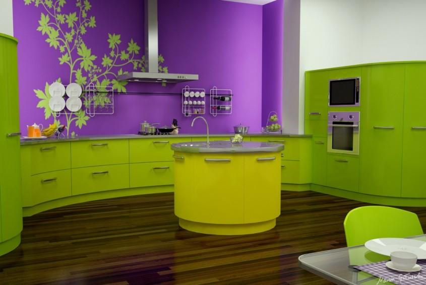 Foto via www interiorclip com - Colorata si reflectand stralucirile sticla da un aspect modern permanent