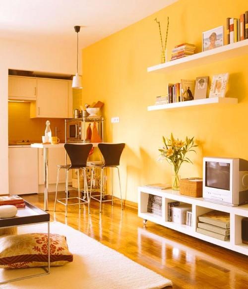 O garsoniera de 28 mp, renovata si decorata in culori calde - O garsoniera de 28 mp, renovata si decorata in culori calde