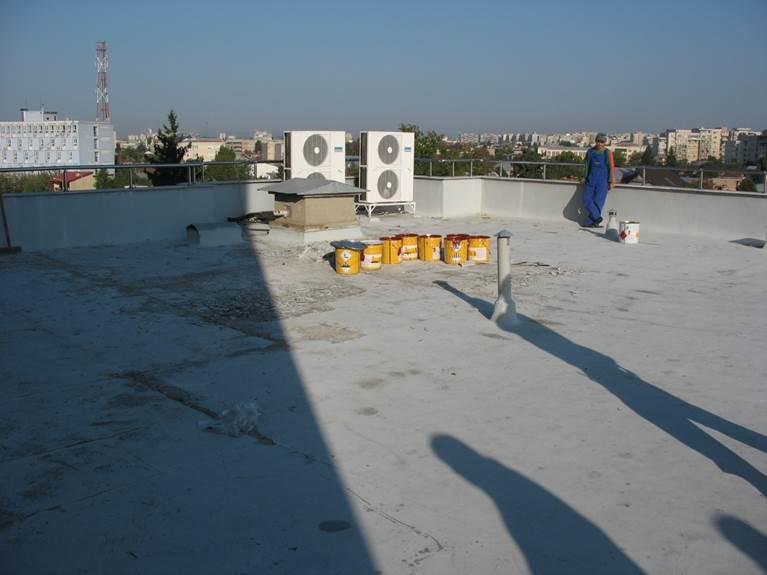 Acoperis in stadiu initial - Proiect hidroizolare acoperis SikaRoof MTC 12 - Administratia Financiara Ploiesti