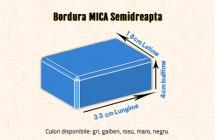 Bordura mica semi-dreapta - Borduri din beton - Constructii Millenium