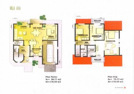 Plan vila Ada - Proiect vila Ada