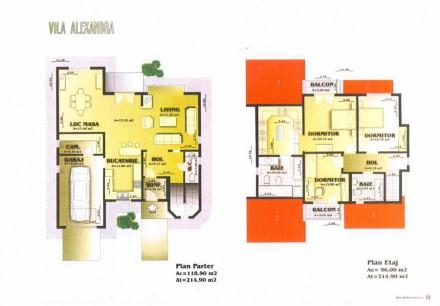 Plan vila Alexandra - Proiect vila Alexandra
