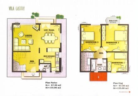 Plan vila Lastun - Proiect vila Lastun