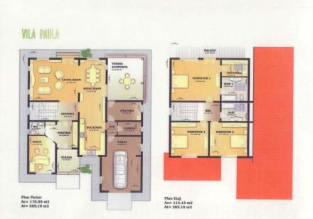 Plan vila Paula - Proiect vila Paula