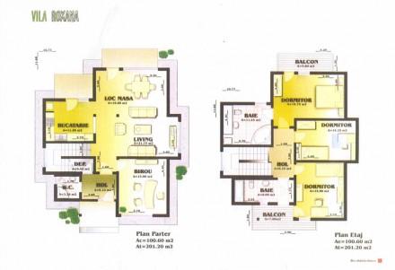 Plan vila Roxana - Proiect vila Roxana