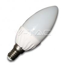BEC LED - 3W E14 Lumanare Alb Cald - Becuri cu led