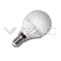 Bec LED - 4W E14 P45 Epistar Chip Alb - Becuri cu led