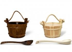 Galetuse traditionale din lemn, cu interior din plastic - Accesorii pentru saune - TYLO