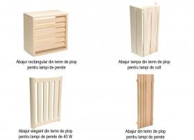 Abajururi din lemn de plop pentru saune - Solutii de iluminare pentru Saune - TYLO