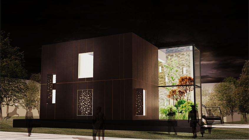 randare prototip noapte (2) - Prototipul casei solare pentru Versailles 2014