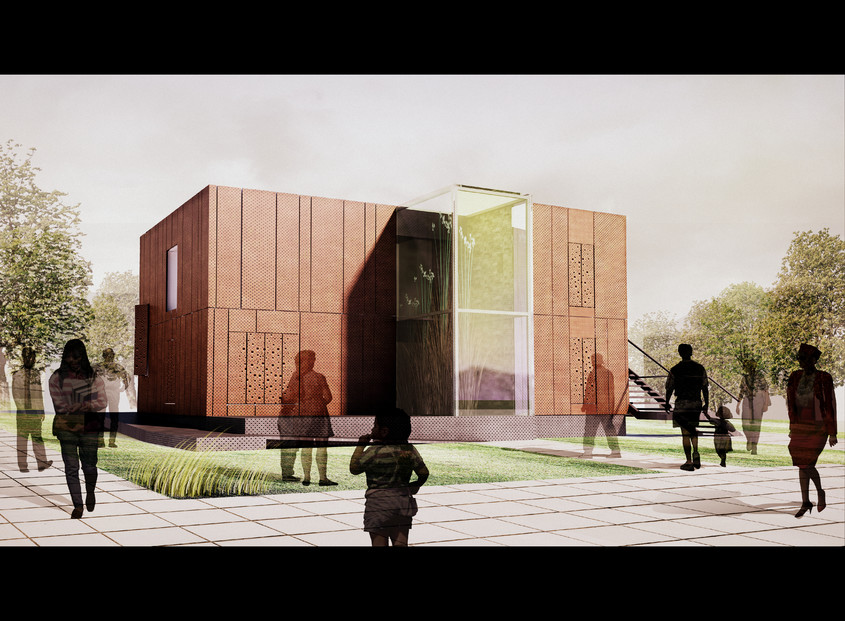 randare prototip zi (1) - Prototipul casei solare pentru Versailles 2014