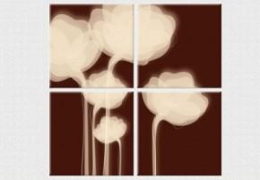 Tablouri set dual view flori - flori de ciocolata - Tablouri set