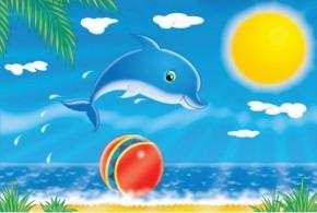 Tablouri copii dual view - delfin - Tablouri pentru copii