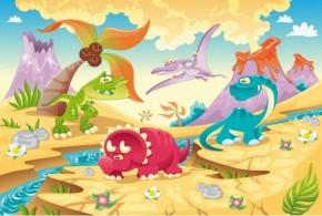 Tablouri copii dual view - dinozauri - Tablouri pentru copii
