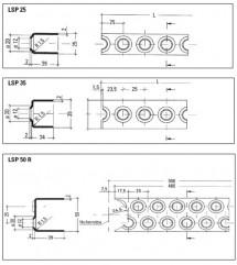 Profil treapta pentru scara dreapta - Trepte metalice