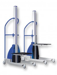 Carucior ergonomic din aluminiu 1.535 mm - Transpalete si carucioare speciale